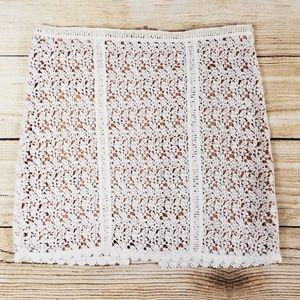 NWT  Kendall & Kylie crochet lace pencil skirt